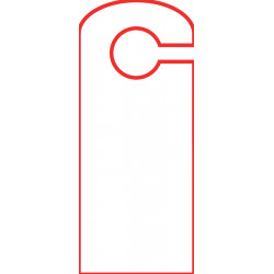 Accroche-porte 10.5 x 25 cm