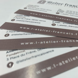 Business cards with lamination