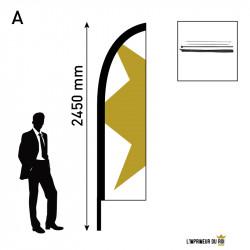 Beach flag 2.45m (S) wing...