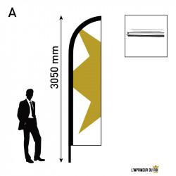 Beach flag 3m (M) wing...